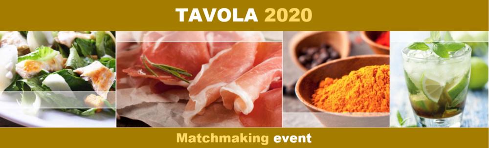 TAVOLA 2020 VIRTUAL-Διεθνής διαδικτυακή εκδήλωση επιχειρηματικών συναντήσεων στον τομέα της Αγροδιατροφής και των Ποτών, 14 &15/9/2020