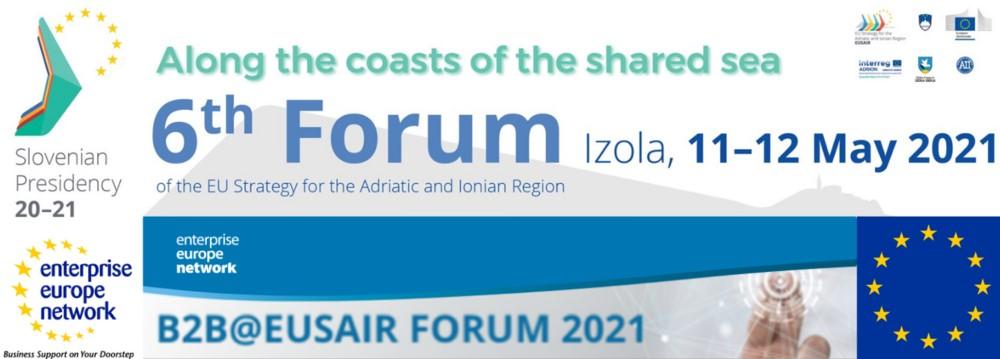 Πρόσκληση για διαδικτυακές Β2Β συναντήσεις κατά τη διάρκεια του EUSAIR FORUM 2021