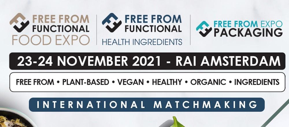 """Διαδικτυακή Εκδήλωση Επιχειρηματικών Συναντήσεων """"Free From Food Functional and Health Ingredients 2021"""", 23 & 24 Νοεμβρίου 2021"""